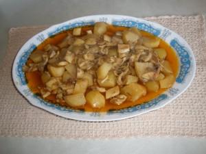 Sèpia estofada amb patates
