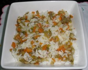 Arròs amb verduretes