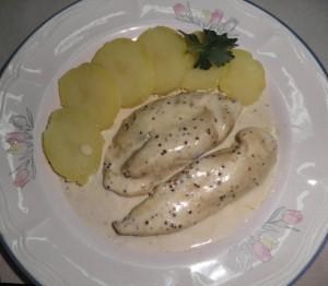 Pit de pollastre a la mostassa