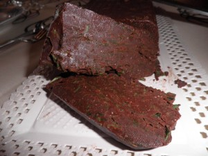 Terrina de xocolata amb ruca (rúcula)